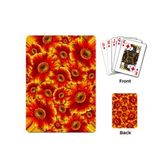Gerbera Flowers Blossom Bloom Playing Cards (mini)