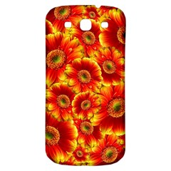 Gerbera Flowers Blossom Bloom Samsung Galaxy S3 S Iii Classic Hardshell Back Case