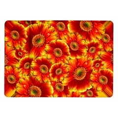 Gerbera Flowers Blossom Bloom Samsung Galaxy Tab 10 1  P7500 Flip Case