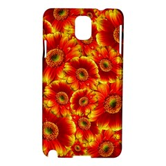 Gerbera Flowers Blossom Bloom Samsung Galaxy Note 3 N9005 Hardshell Case