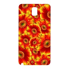 Gerbera Flowers Blossom Bloom Samsung Galaxy Note 3 N9005 Hardshell Back Case