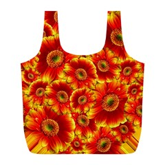 Gerbera Flowers Blossom Bloom Full Print Recycle Bags (l)