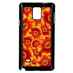 Gerbera Flowers Blossom Bloom Samsung Galaxy Note 4 Case (black)