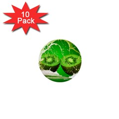 Kiwi Fruit Vitamins Healthy Cut 1  Mini Buttons (10 Pack)
