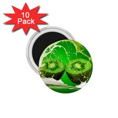 Kiwi Fruit Vitamins Healthy Cut 1 75  Magnets (10 Pack)