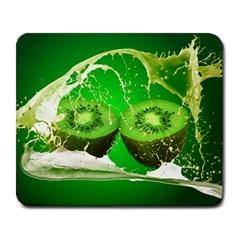 Kiwi Fruit Vitamins Healthy Cut Large Mousepads