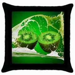 Kiwi Fruit Vitamins Healthy Cut Throw Pillow Case (black)