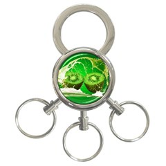 Kiwi Fruit Vitamins Healthy Cut 3 Ring Key Chains