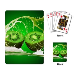 Kiwi Fruit Vitamins Healthy Cut Playing Card