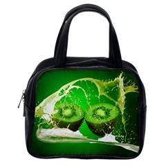 Kiwi Fruit Vitamins Healthy Cut Classic Handbags (one Side)