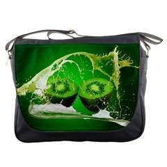 Kiwi Fruit Vitamins Healthy Cut Messenger Bags