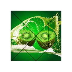Kiwi Fruit Vitamins Healthy Cut Acrylic Tangram Puzzle (4  X 4 )