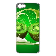 Kiwi Fruit Vitamins Healthy Cut Apple Iphone 5 Case (silver)