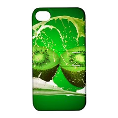 Kiwi Fruit Vitamins Healthy Cut Apple Iphone 4/4s Hardshell Case With Stand