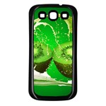 Kiwi Fruit Vitamins Healthy Cut Samsung Galaxy S3 Back Case (Black) Front