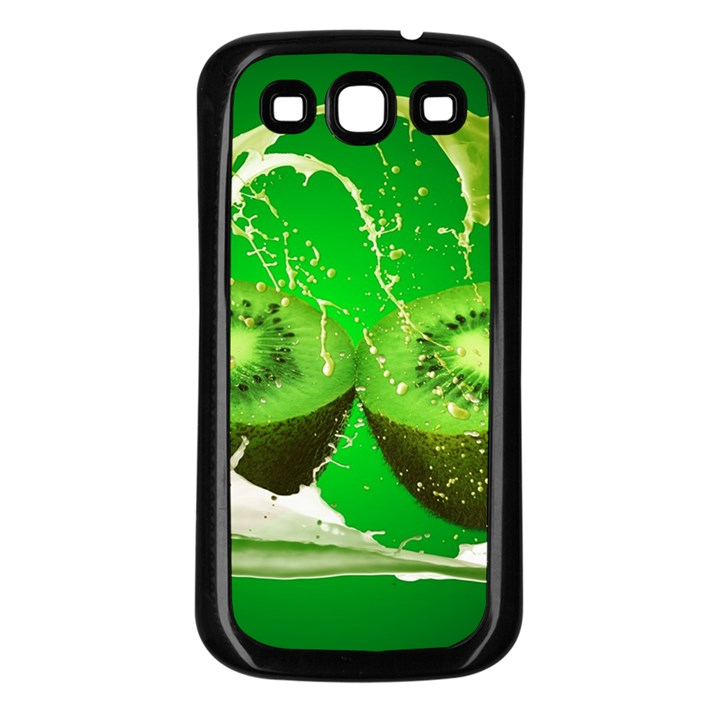 Kiwi Fruit Vitamins Healthy Cut Samsung Galaxy S3 Back Case (Black)