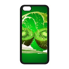 Kiwi Fruit Vitamins Healthy Cut Apple Iphone 5c Seamless Case (black)