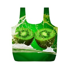 Kiwi Fruit Vitamins Healthy Cut Full Print Recycle Bags (m)