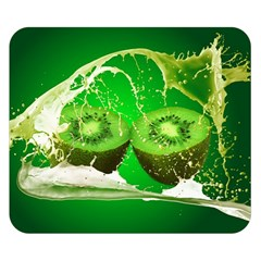 Kiwi Fruit Vitamins Healthy Cut Double Sided Flano Blanket (small)