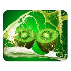 Kiwi Fruit Vitamins Healthy Cut Double Sided Flano Blanket (large)