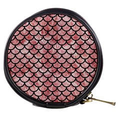 Scales1 Black Marble & Red & White Marble (r) Mini Makeup Bag