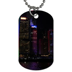 Hong Kong China Asia Skyscraper Dog Tag (one Side)