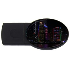 Hong Kong China Asia Skyscraper Usb Flash Drive Oval (2 Gb)