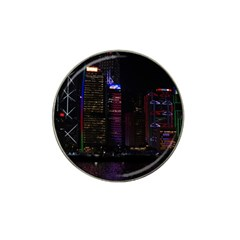 Hong Kong China Asia Skyscraper Hat Clip Ball Marker (4 Pack)