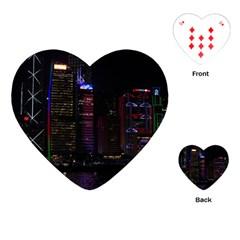 Hong Kong China Asia Skyscraper Playing Cards (Heart)