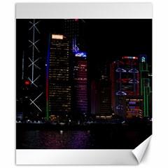 Hong Kong China Asia Skyscraper Canvas 8  x 10