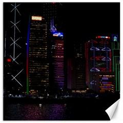 Hong Kong China Asia Skyscraper Canvas 12  X 12