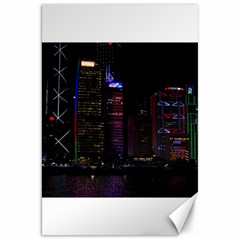 Hong Kong China Asia Skyscraper Canvas 20  X 30