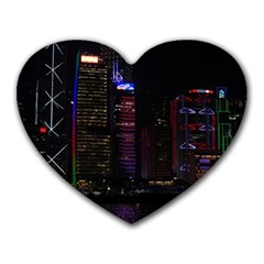 Hong Kong China Asia Skyscraper Heart Mousepads