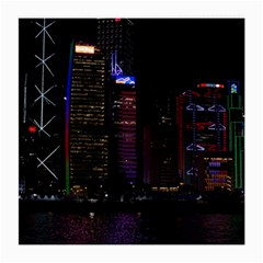 Hong Kong China Asia Skyscraper Medium Glasses Cloth
