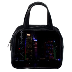 Hong Kong China Asia Skyscraper Classic Handbags (one Side)