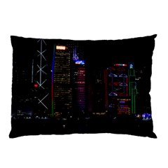 Hong Kong China Asia Skyscraper Pillow Case