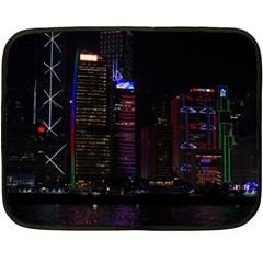 Hong Kong China Asia Skyscraper Double Sided Fleece Blanket (mini)