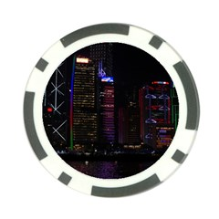 Hong Kong China Asia Skyscraper Poker Chip Card Guards (10 Pack)