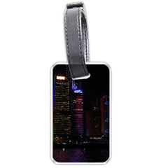 Hong Kong China Asia Skyscraper Luggage Tags (one Side)