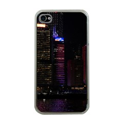 Hong Kong China Asia Skyscraper Apple Iphone 4 Case (clear)