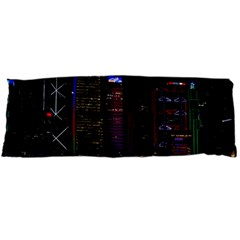 Hong Kong China Asia Skyscraper Body Pillow Case Dakimakura (two Sides)