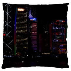 Hong Kong China Asia Skyscraper Large Cushion Case (one Side)
