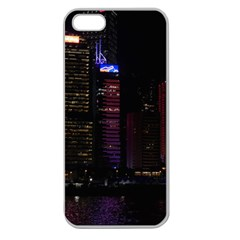 Hong Kong China Asia Skyscraper Apple Seamless Iphone 5 Case (clear)