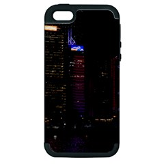 Hong Kong China Asia Skyscraper Apple Iphone 5 Hardshell Case (pc+silicone)