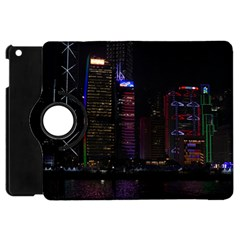 Hong Kong China Asia Skyscraper Apple Ipad Mini Flip 360 Case