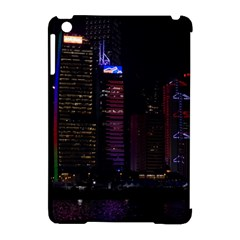 Hong Kong China Asia Skyscraper Apple Ipad Mini Hardshell Case (compatible With Smart Cover)