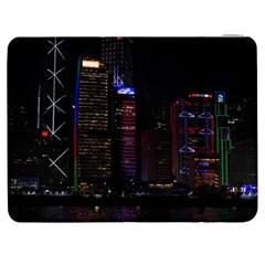 Hong Kong China Asia Skyscraper Samsung Galaxy Tab 7  P1000 Flip Case