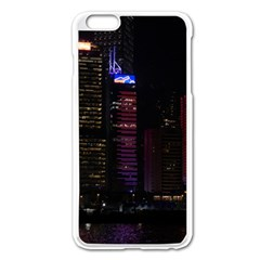 Hong Kong China Asia Skyscraper Apple Iphone 6 Plus/6s Plus Enamel White Case