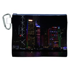 Hong Kong China Asia Skyscraper Canvas Cosmetic Bag (xxl)