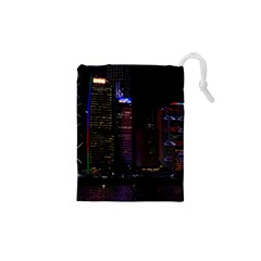 Hong Kong China Asia Skyscraper Drawstring Pouches (xs)